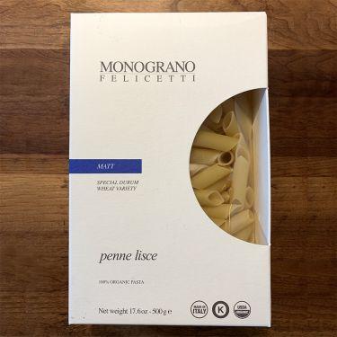 Felicetti Pasta Monograno - Matt Grain Variety Penne Lisce, 500g box