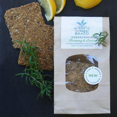Norwegian Baked Crispbread / Knekkebrød with Rosemary & Lemon