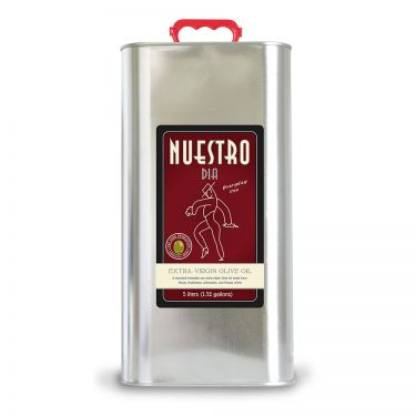 NUESTRO DIA Extra-Virgin Olive Oil from Spain, 5 liter tin