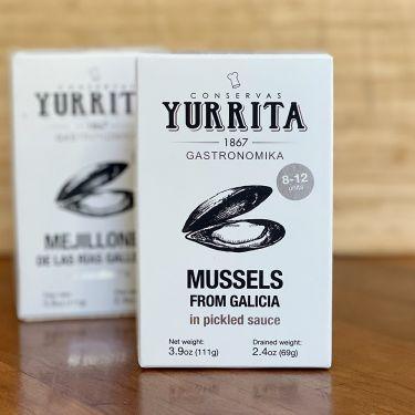 """Yurrita """"Mejillones"""" Mussels in Pickled Sauce, 111g Tin"""